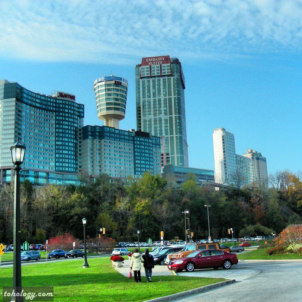 Niagara Falls Canadian Side View To Marriott Fallsview Hotel Canada Travel Niagara Falls Niagara