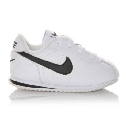 detailed look 61ac8 f32bb Nike Infant Cortez Leather White Black   Shoe Carnival