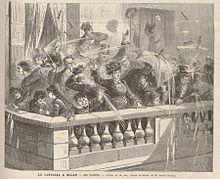 La bataille de confettis sur les Grands Boulevards au Carnaval de Paris 1894 - Buscar con Google