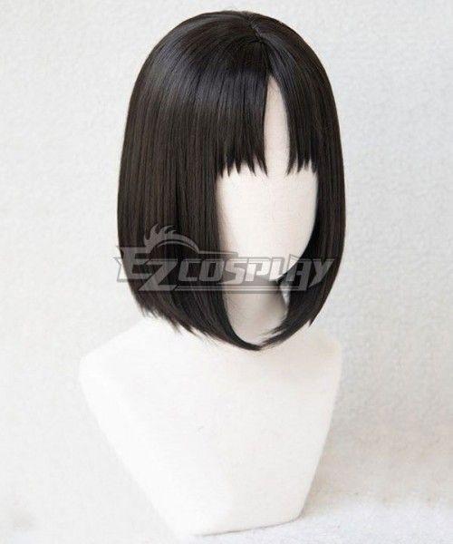 The Garden Of Sinners Shiki Ryougi Black Cosplay Wig Sponsored