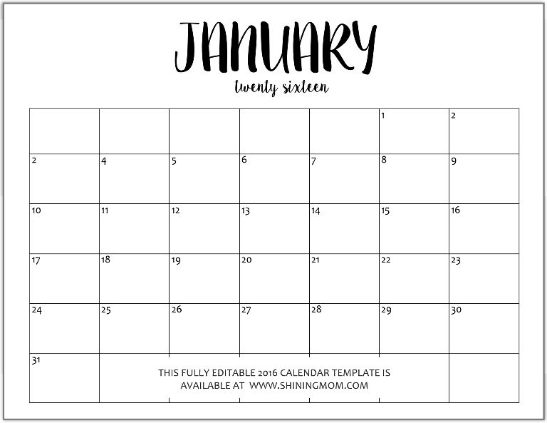 January  Calendar To Print  Office    January Calendar