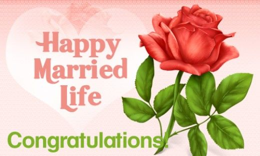 Ideas and examples of wedding wishes for a newly married couple happy married life greeting card m4hsunfo