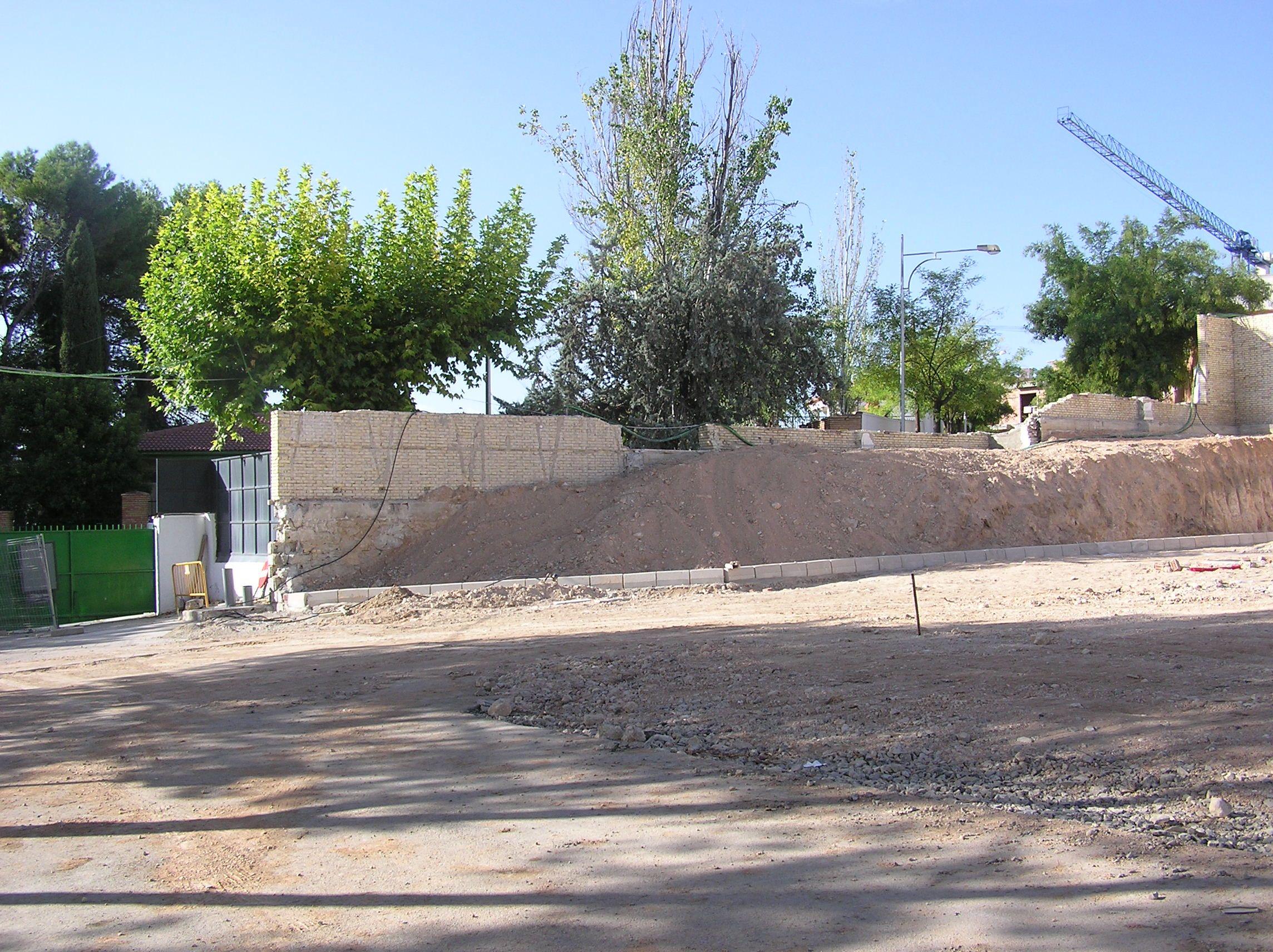 otra de las zonas del Instituto que hubo que reconstruir