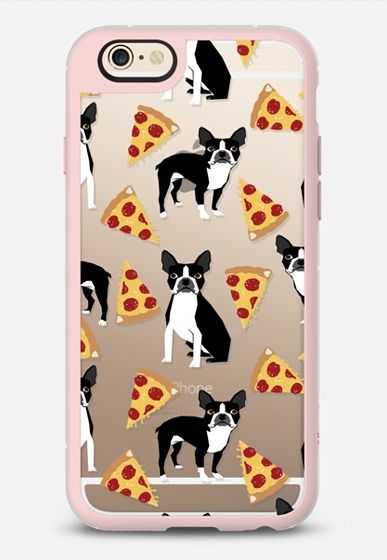 Boston Terrier Pizza - cute funny boston terrier owner phone case pizza iPhone 6 case by Pet Friendly | Casetify