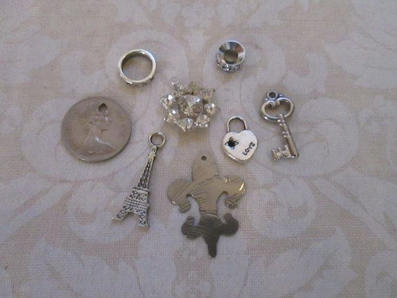 Silver Charms Collection forJewelry Making by Margolinn on Etsy, $8.50