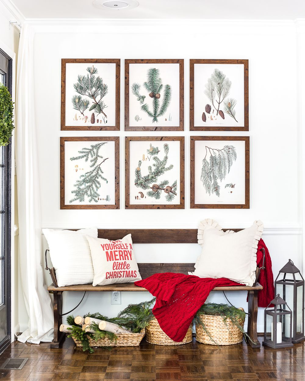 Entryway And Free Printables: Winter Botanical Gallery Wall Printables