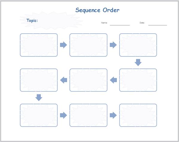 Sequenziellen Graphic Organizer Vorlagen zum Schreiben | Graphic ...