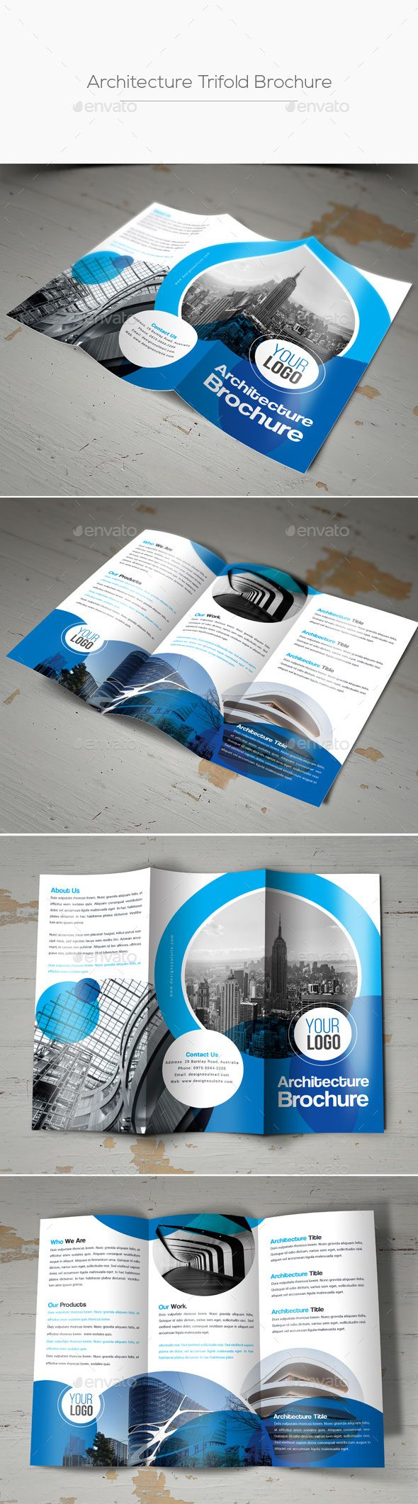 Architecture Trifold Brochure  Corporate Brochure Brochures And