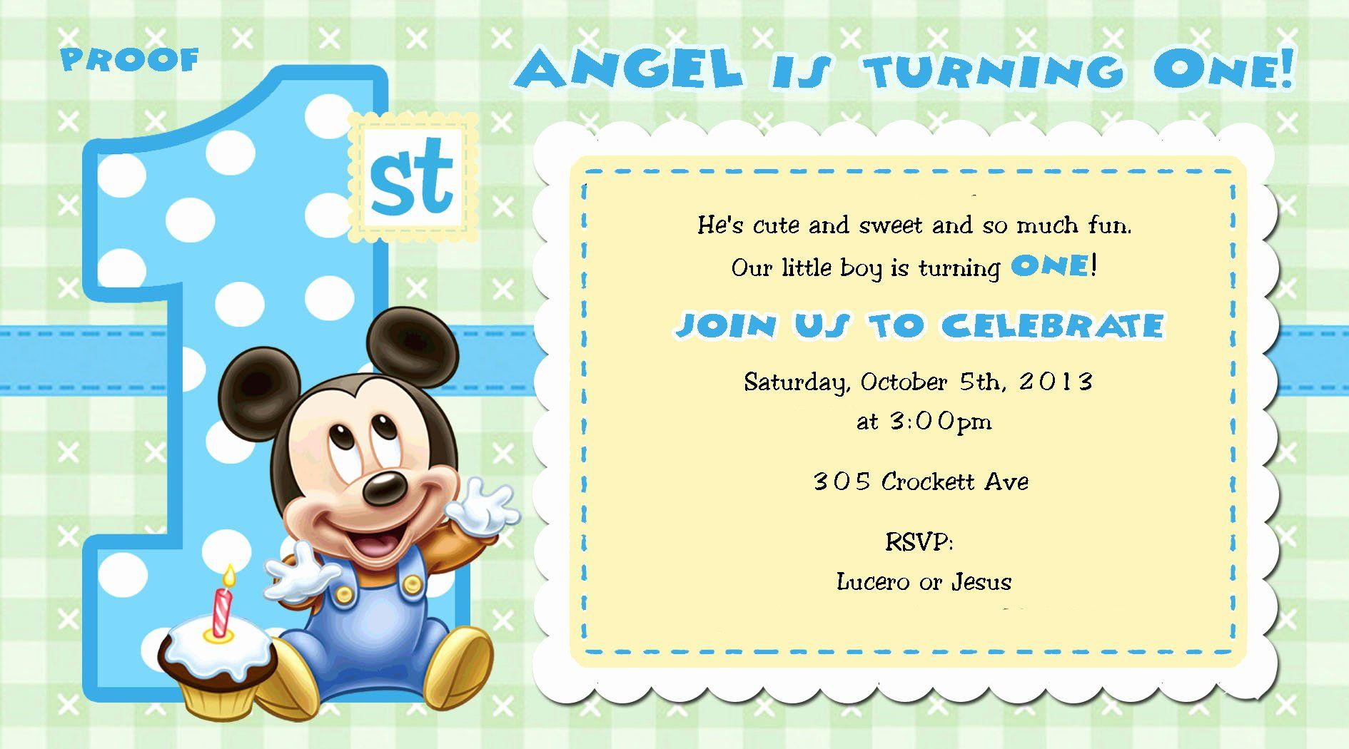 Mickey Mouse Birthday Invitations Template Inspirational ...
