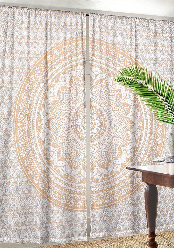 Cotton indian curtains mandala window curtain indian