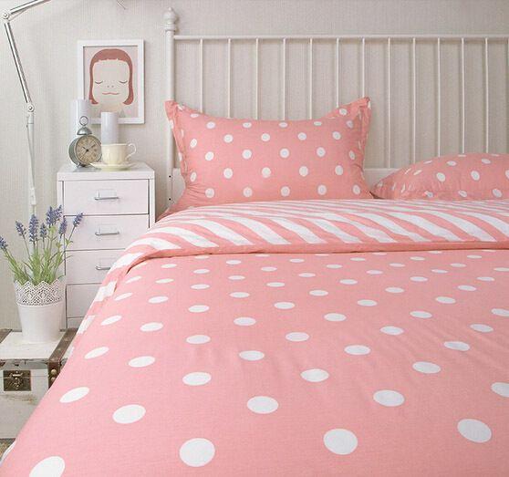 Pin On Bedroom Ideas, Pink Polka Dot Bedding