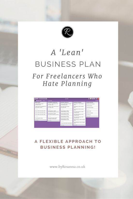 A u0027Leanu0027 Business Plan for Freelancers Who Hate Planning - startup business plan