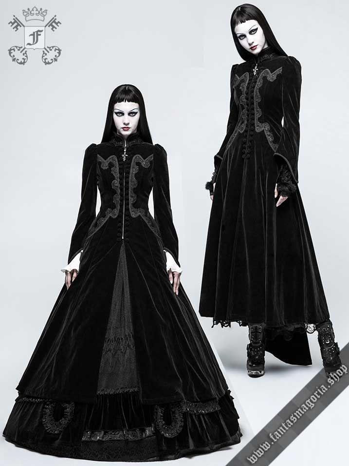715833edae Y-776bk Vampire Queen - Gothic Romantic women's long coat by Punk ...