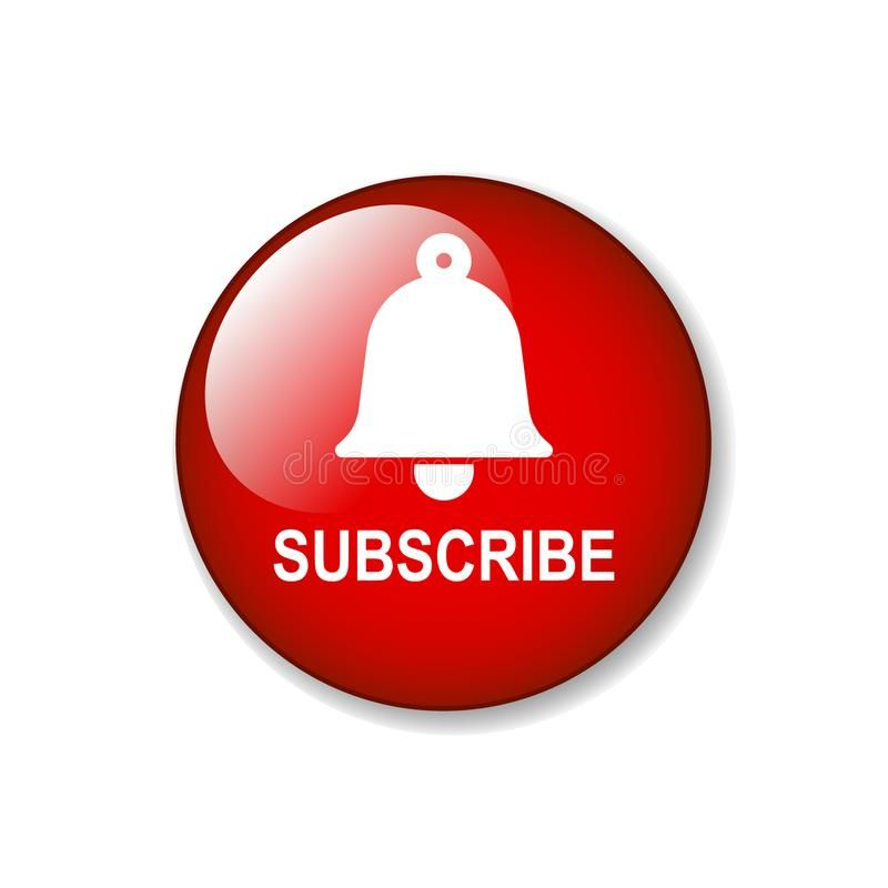 Subscribe Bell Icon. Subscribe Now Web Button