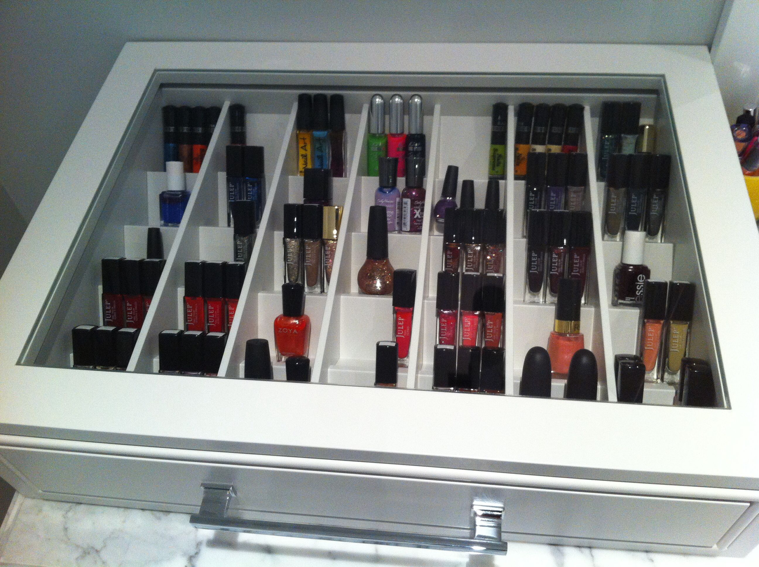 Love my nail polish drawer!! | Nail Polish Storage Ideas | Pinterest ...