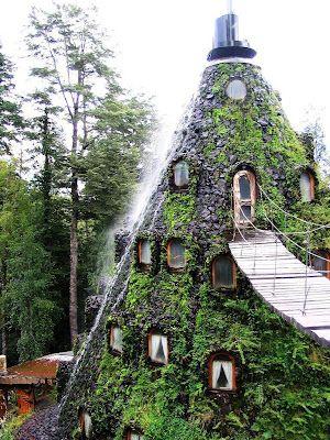 Hotel La Montaña Mágica Huilo Huilo, Chile  I need to stay in here someday.