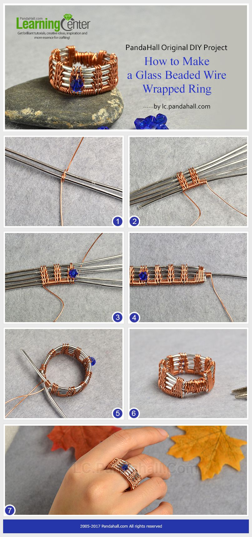 PandaHall Original DIY Project – How to Make a Glass Beaded Wire ...