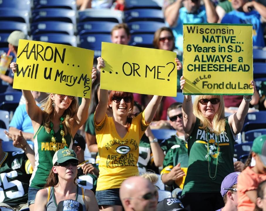 at Chargers (With images) Green bay packers funny