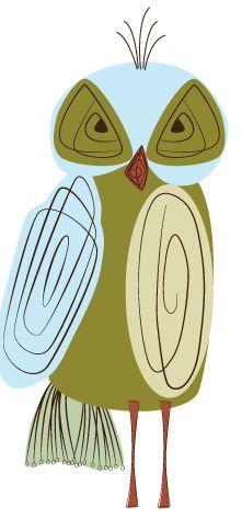 Day 54: Retro Owl Weekend Beginsu2026 Kunst Aus Der Mitte Des Jahrhunderts50er  ...