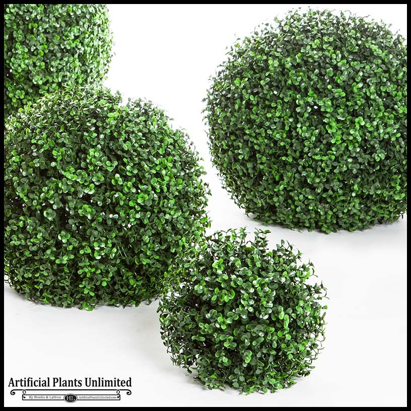 Ornamental Boxwood Topiary Balls Outdoor Artificial Plants Outdoor Artificial Plant Arrangements Artificial Plants