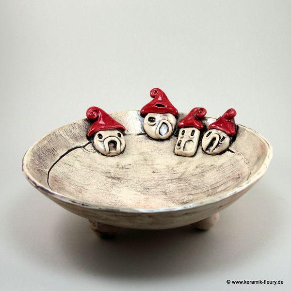 Keramik schale dekoschale weihnachtsdeko von keramik - Dawanda weihnachtsdeko ...