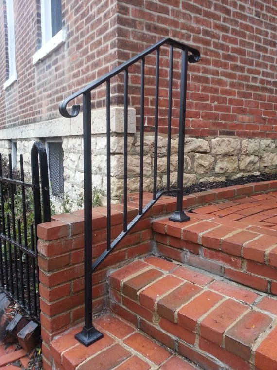Best Hand Made Wrought Iron Picket2 Style Handrail For Steps 640 x 480