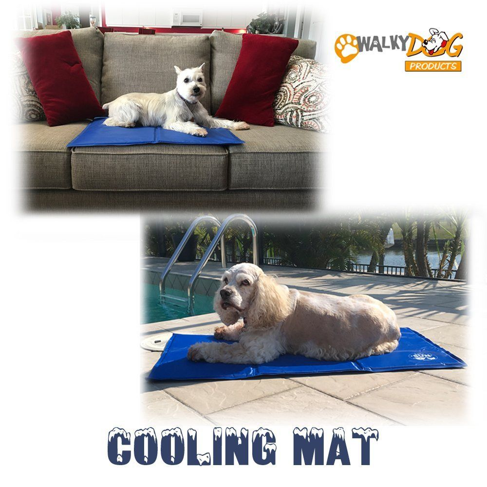 Walky Dog Cooling Mat No Chilling Or Freezing Required Pressure Activated Cooling Mat Works On Any Surface Works Ind Dog Cooling Mat Walky Dog Dog Shedding
