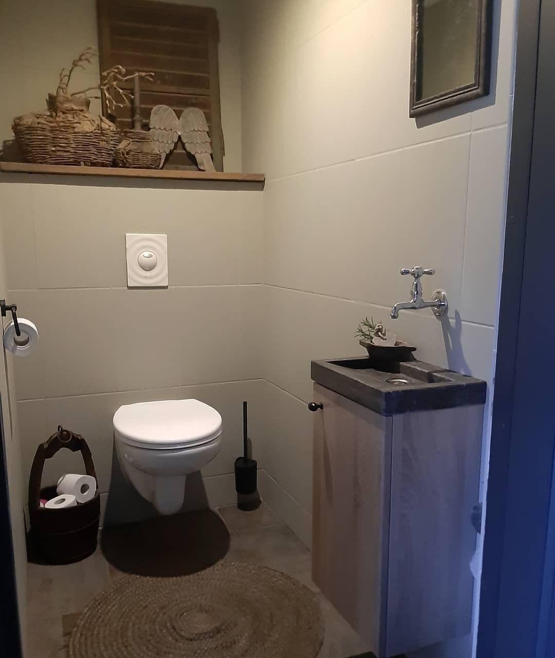 Toilet Tegels Verven Diy Sober Stoer Landelijk Wc Decoratie Decoreren Interieur Wonen Toilet Interieur Interieurstyling