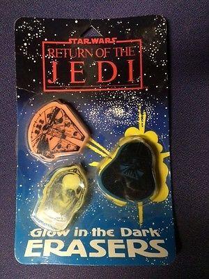 Star Wars Return of the Jedi ROTJ 1983  MIP glow in the Dark Erasers https://t.co/RMr6B36Sv1 https://t.co/SH0R11S35x