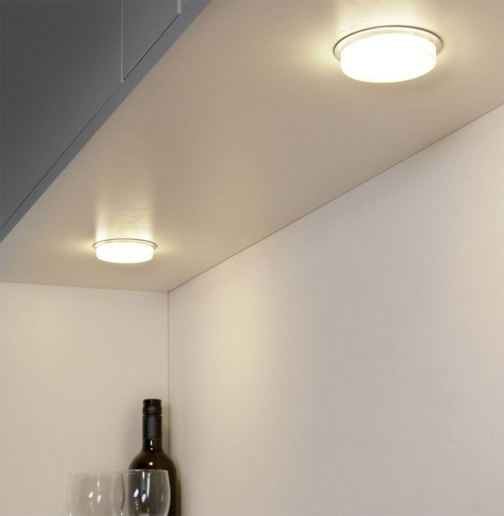 Urban thermoplastic semi recessed light fitting for gx53 bulbs