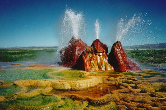 Geysers Great Basin Nevada Fly Geyser Nevada Fly Geyser Places To Go
