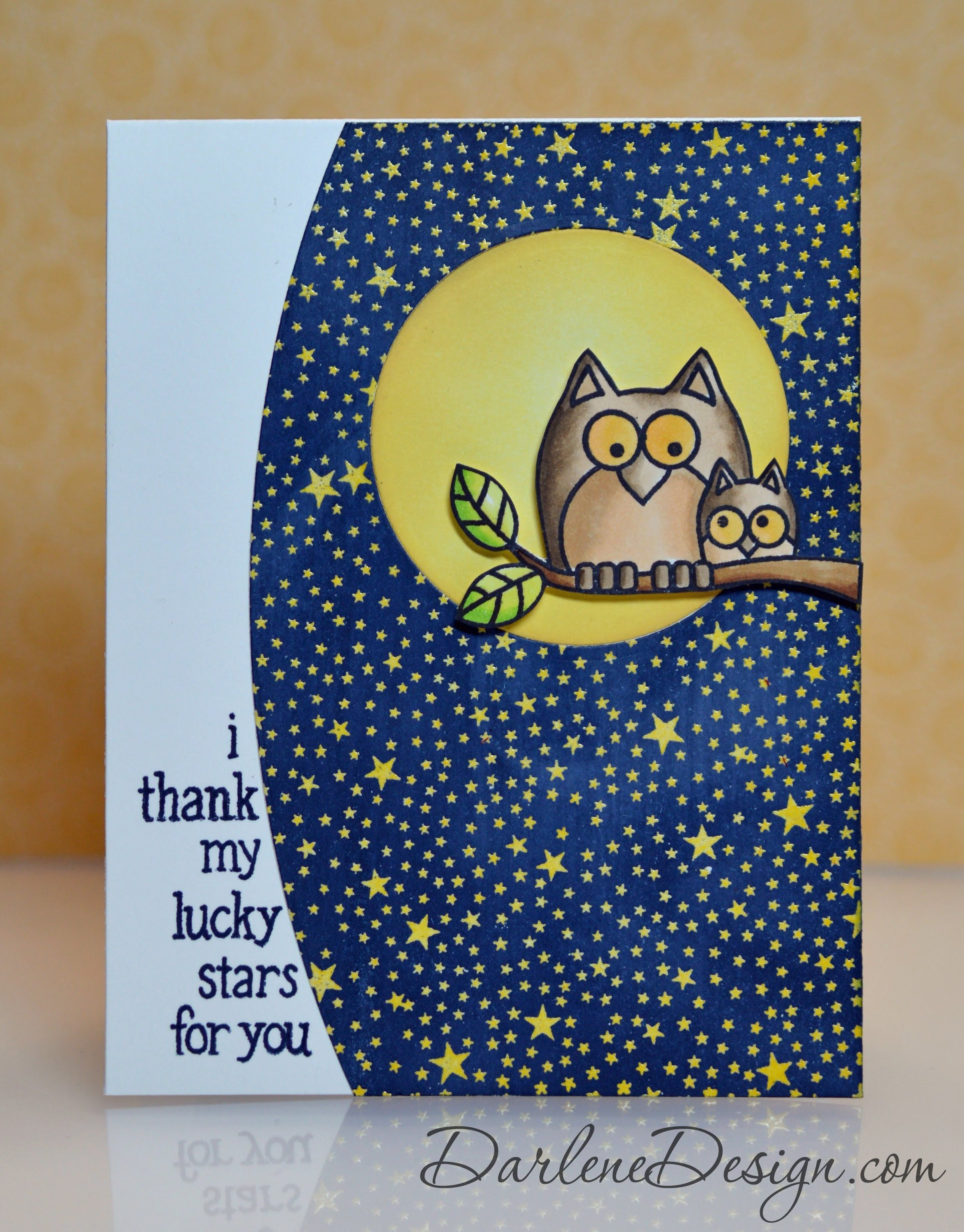 Hero Arts Paper Layering Owl with Frame D
