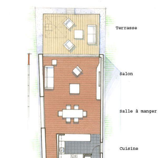 Plan du0027une maison sur une terrain en longueur