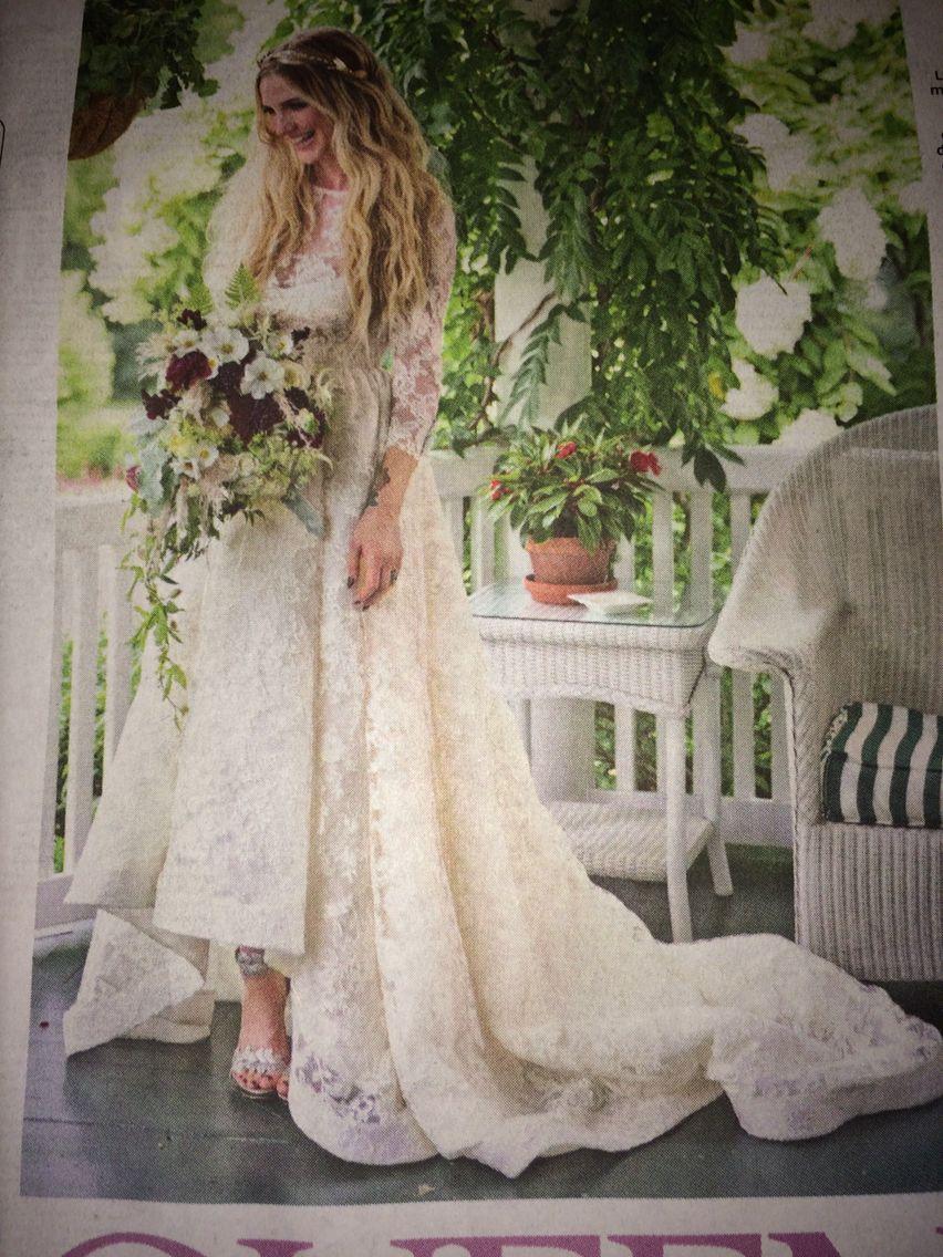 Ashlee Simpson Wedding Houghton Dress Mcqueen Shoes Love
