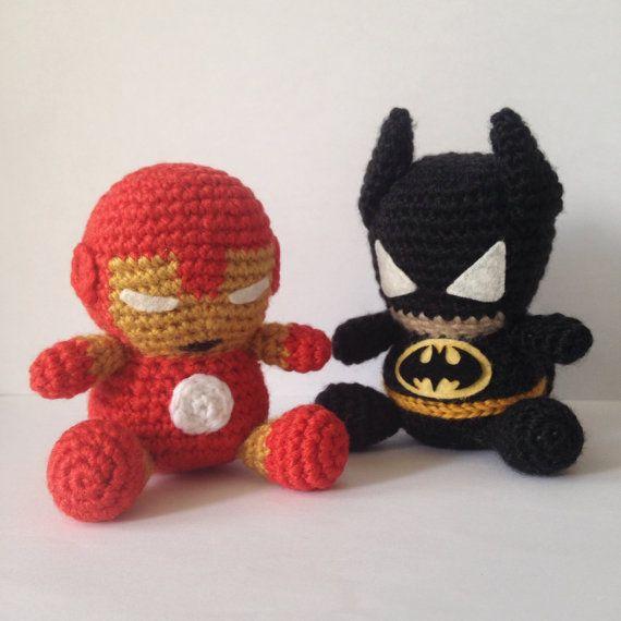 Amigurumi Spiderman Patron : BATMAN Patron Amigurumi Superheroe Capa Marvel Super Heroe ...