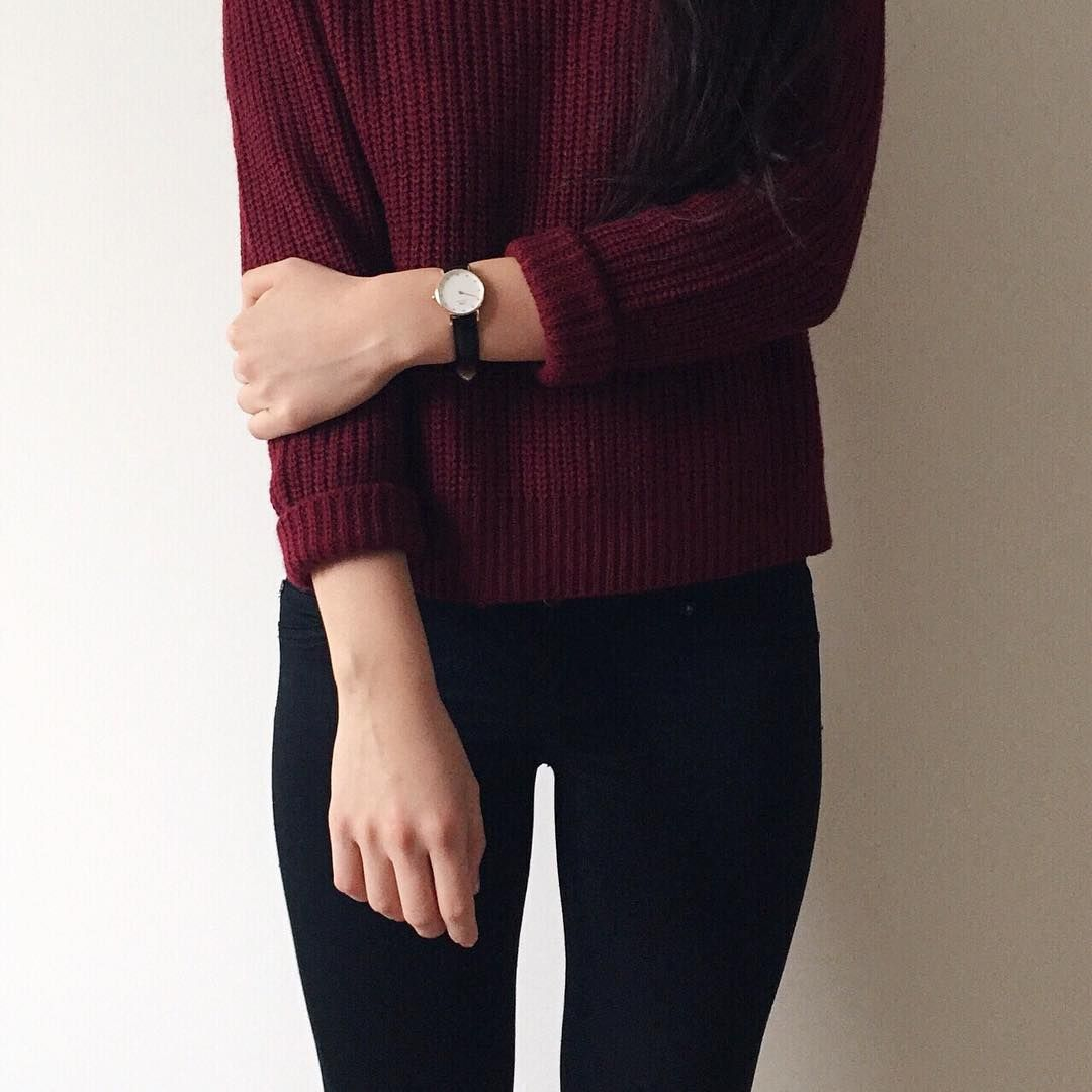 maroon sweater  fashion burgundy aesthetic maroon aesthetic