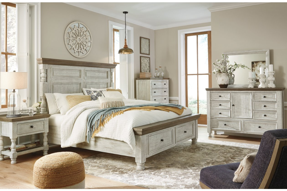 Havalance Queen Poster Bed with 2 Storage Drawers Ashley