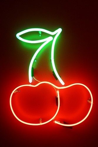 How Cute Are These Neon Cherries Neon Light Signs Neon Signs