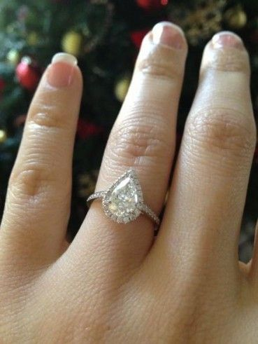Pin On Pear Cut Engagement Rings