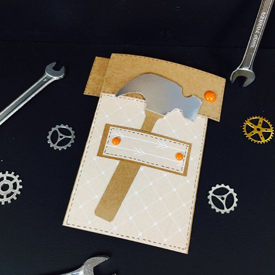 Make This Fun Tool Belt Folding Card For Your Dad This Father S Day With Our Tutorial And Free Printable Tool Template Cards Card Tutorial Fathers Day Crafts