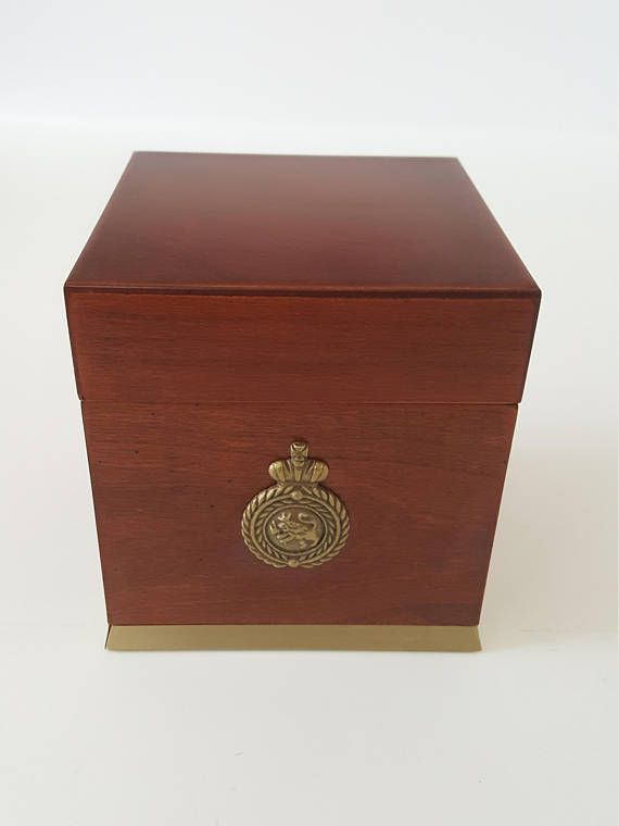 Vintage Bombay Company Cherry Wood Box Vintage Jewelry Box