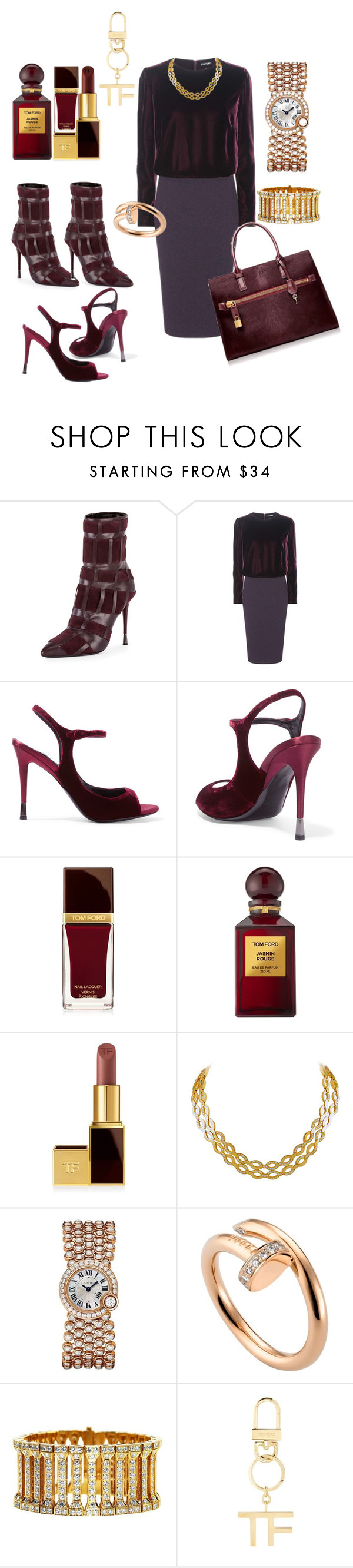 """Tom ford"" by ellenfischerbeauty ❤ liked on Polyvore featuring Tom Ford, Cartier, cartier, gucci, TOMFORD and Jasmin"