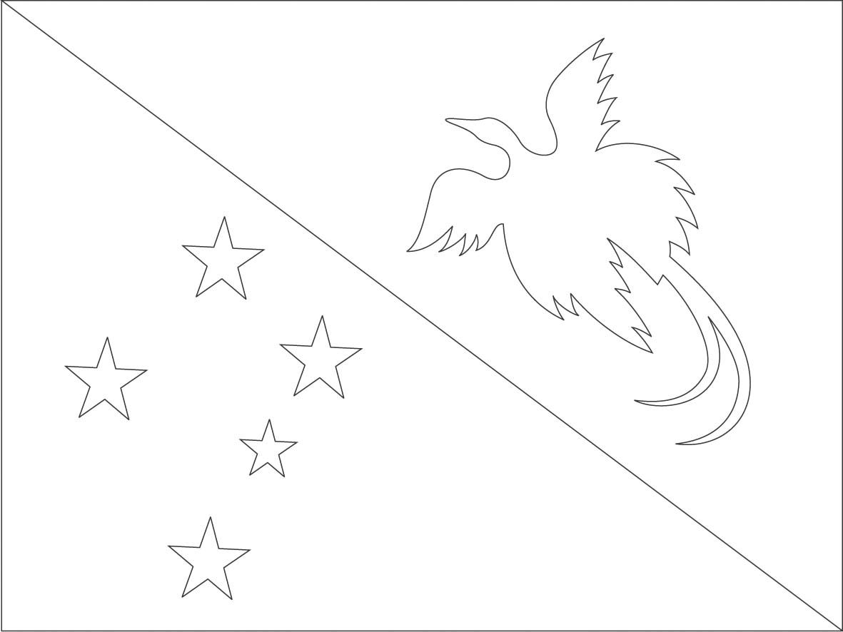 papua new guinea flag coloring page sonlight core c window on the world
