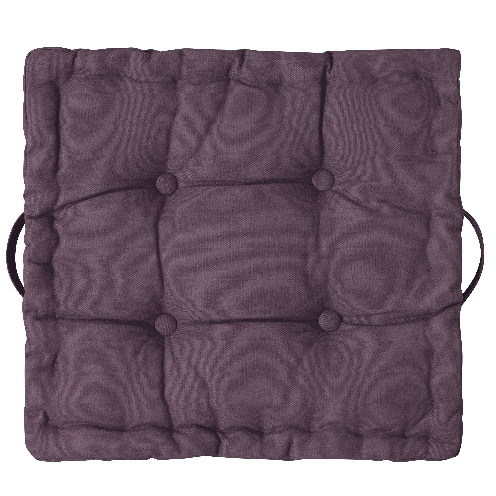 grand coussin tapissier uni carr tertio 3 suisses. Black Bedroom Furniture Sets. Home Design Ideas