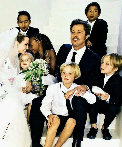 Beautiful Family Angelina Jolie Wedding Celebrity Weddings