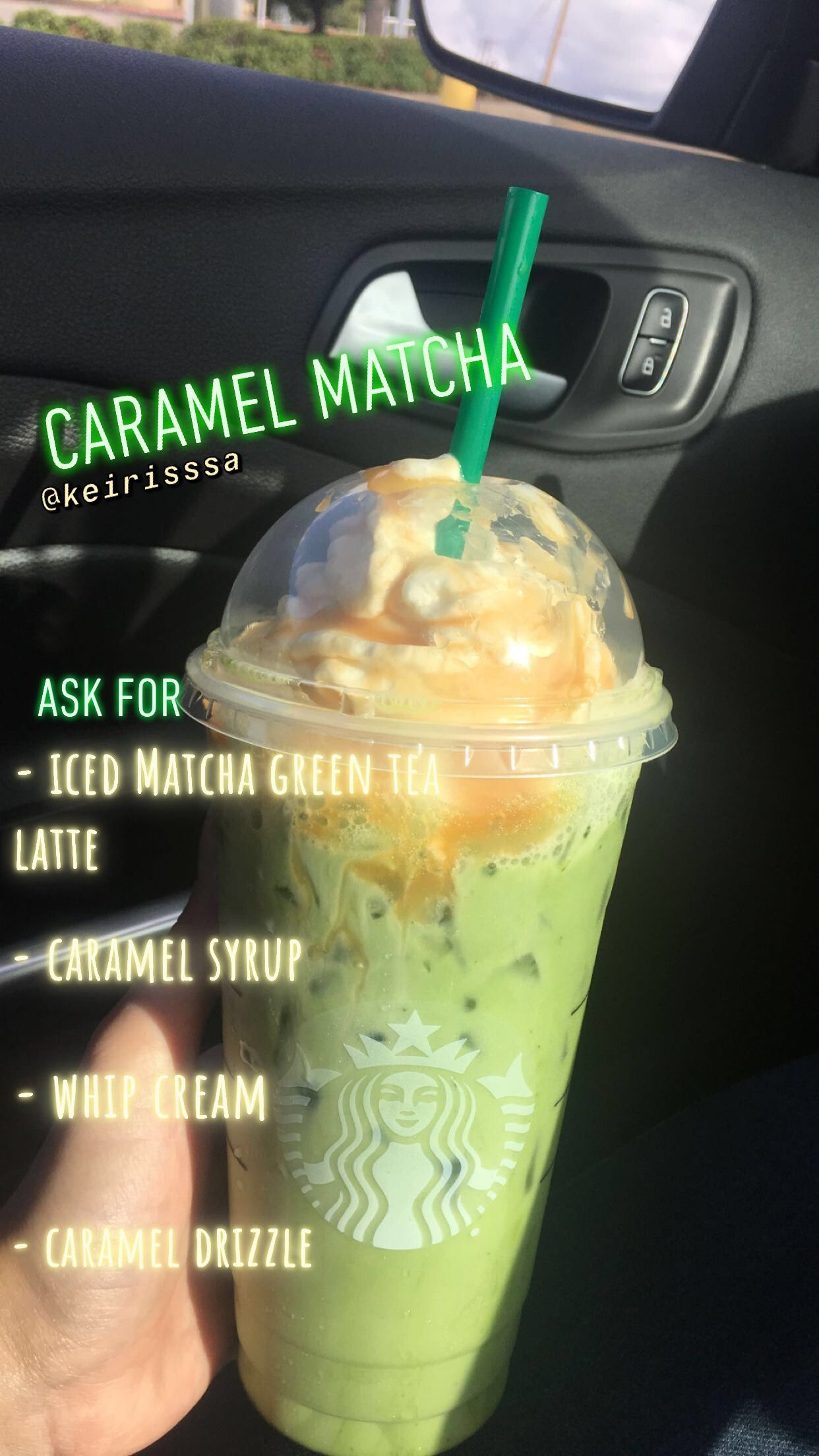 Photo of Starbucks Iced matcha green tea latte #starbuckssecretmenudrinks