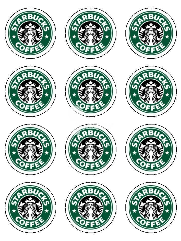 Printable Mini Starbucks Logos Party Ideas Pinterest