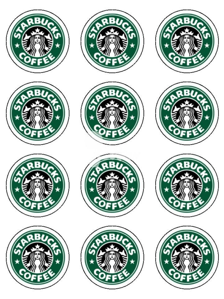 photograph about Starbucks Logo Printable named Printable Mini Starbucks Emblems Bash Recommendations Starbucks