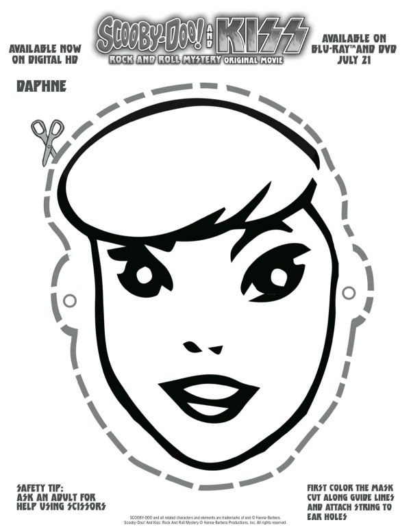 Free Printable Scooby Doo Daphne Mask With Images Scooby Doo