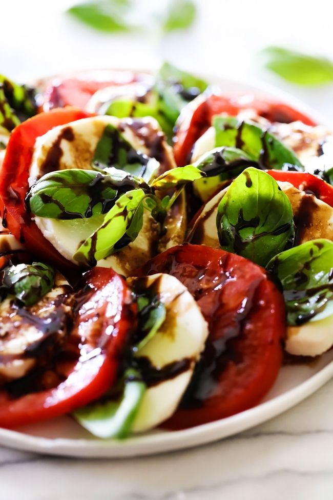 Caprese Salad With Balsamic Glaze Chef In Training Recipe Caprese Salad Healthy Recipes Easy Snacks Caprese Salad Balsamic